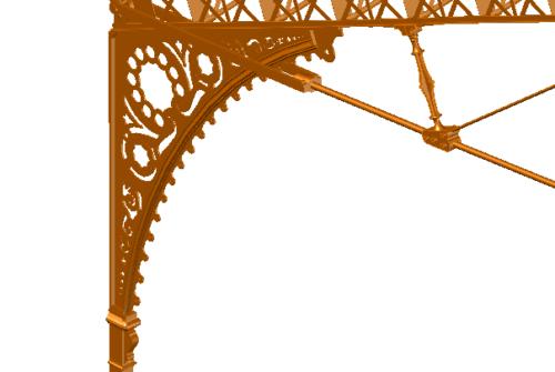 Détail charpente Austerlitz